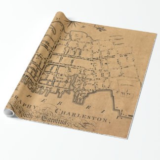 Vintage Map of Charleston South Carolina (1790) Wrapping Paper