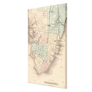 Vintage Map of Charleston South Carolina (1855) Canvas Print