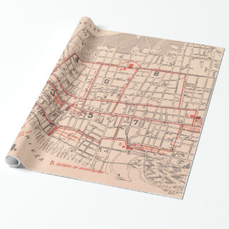 Vintage Map of Charleston South Carolina (1890) Wrapping Paper