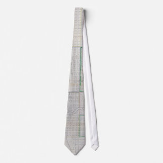Vintage Map of Chicago (1836) Tie