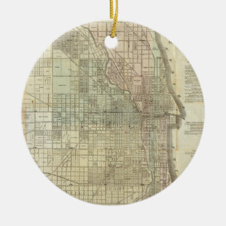 Vintage Map of Chicago (1857) Christmas Ornament
