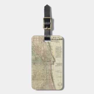 Vintage Map of Chicago (1857) Luggage Tag