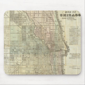 Vintage Map of Chicago (1857) Mouse Pad