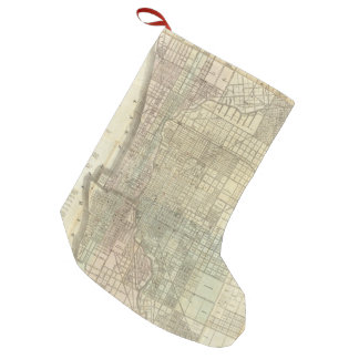 Vintage Map of Chicago (1857) Small Christmas Stocking