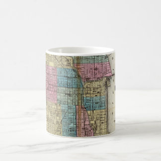Vintage Map of Chicago (1869) Coffee Mug