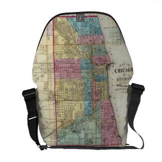Vintage Map of Chicago (1869) Commuter Bag