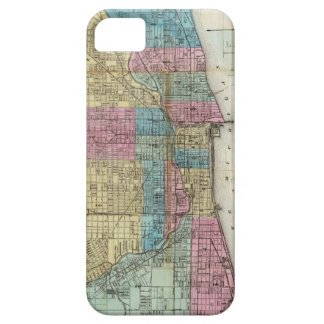Vintage Map of Chicago (1869) iPhone 5 Covers