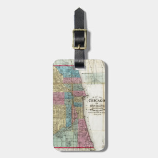Vintage Map of Chicago (1869) Luggage Tag