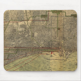 Vintage Map of Chicago (1892) Mouse Pad