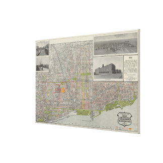 Vintage Map of Chicago (1912) Canvas Print