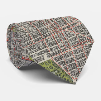 Vintage Map of Chicago (1912) Tie