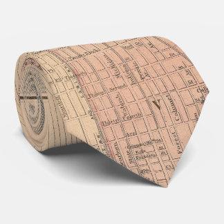 Vintage Map of Chicago Illinois (1876) Tie