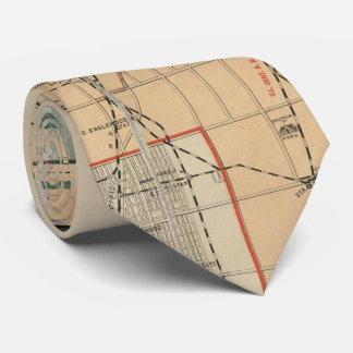 Vintage Map of Chicago Illinois (1889) Tie