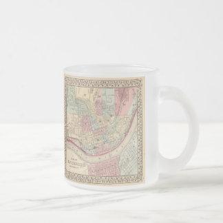 Vintage Map of Cincinnati (1780) Frosted Glass Mug