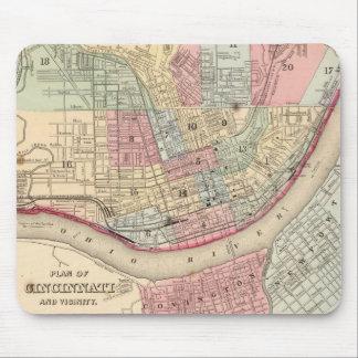 Vintage Map of Cincinnati (1780) Mouse Pad