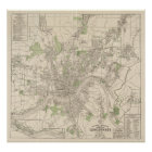 Vintage Map of Cincinnati Ohio (1915) Poster