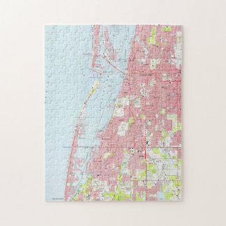 Vintage Map of Clearwater Florida (1974) Jigsaw Puzzle