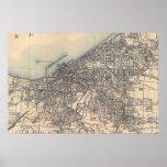 Vintage Map of Cleveland (1904) Poster