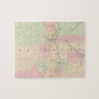 Vintage Map of Colorado (1874) Jigsaw Puzzle
