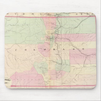 Vintage Map of Colorado (1874) Mouse Pad