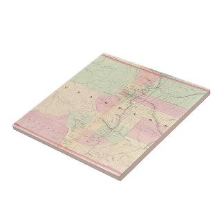 Vintage Map of Colorado (1874) Tile