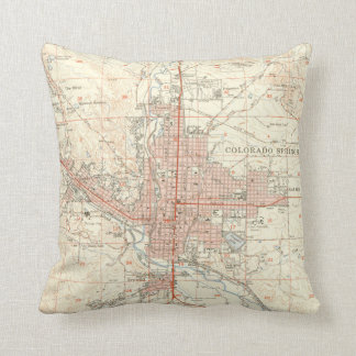 Vintage Map of Colorado Springs CO (1951) Cushion