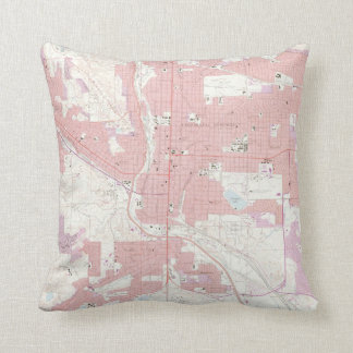 Vintage Map of Colorado Springs CO (1961) 2 Cushion