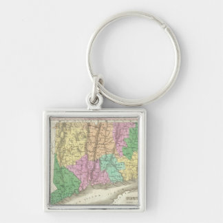 Vintage Map of Connecticut (1827) Key Ring