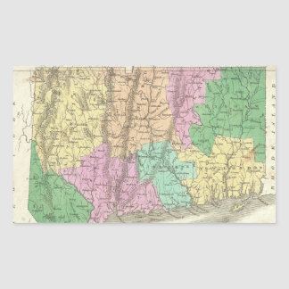 Vintage Map of Connecticut (1827) Stickers