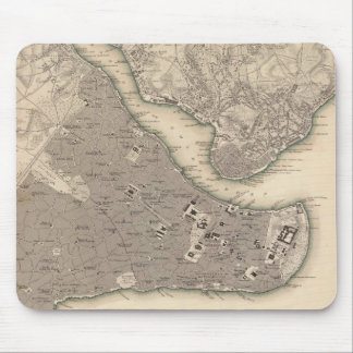 Vintage Map of Constantinople 1840 Mouse Pad