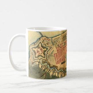 Vintage Map of Copenhagen Denmark (1728) Coffee Mug