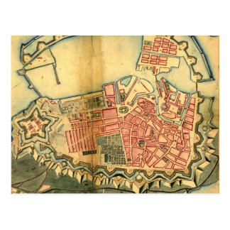 Vintage Map of Copenhagen Denmark (1728) Postcard