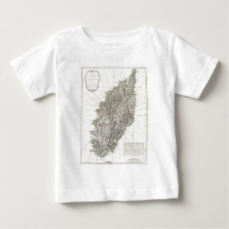 Vintage Map of Corsica (1794) Tees