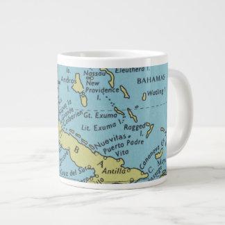 Vintage map of Cuba mug