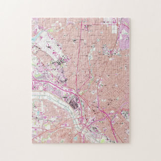 Vintage Map of Dallas Texas (1958) Jigsaw Puzzle