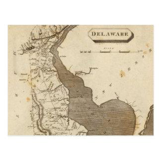 Vintage Map of Delaware (1804) Postcard