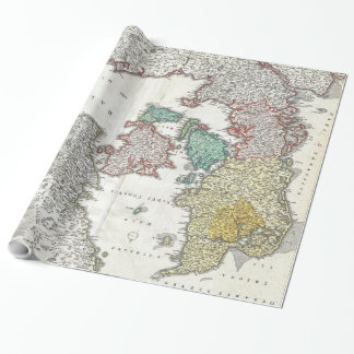 Vintage Map of Denmark (1730) Wrapping Paper