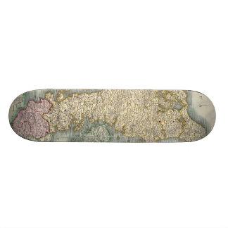 Vintage Map of Denmark (1801) 20.6 Cm Skateboard Deck