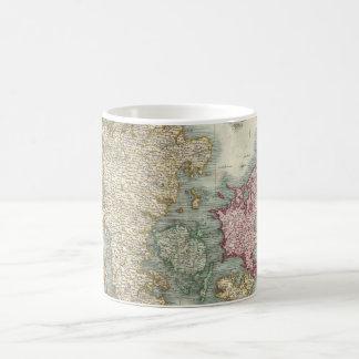 Vintage Map of Denmark (1801) Basic White Mug