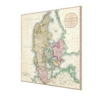 Vintage Map of Denmark (1801) Canvas Print