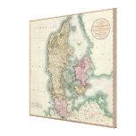 Vintage Map of Denmark (1801) Canvas Prints