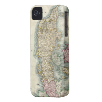 Vintage Map of Denmark 1801 iPhone 4 Cases