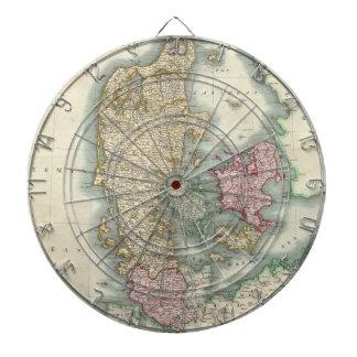 Vintage Map of Denmark (1801) Dart Boards