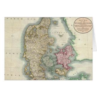 Vintage Map of Denmark (1801) Greeting Card