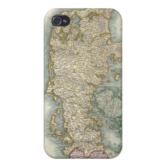 Vintage Map of Denmark (1801) iPhone 4/4S Covers