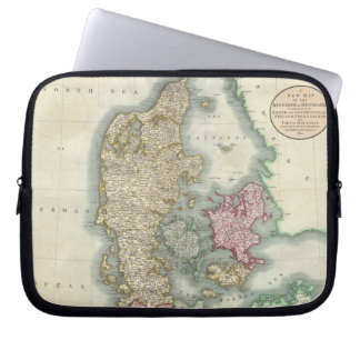 Vintage Map of Denmark 1801 Laptop Sleeve