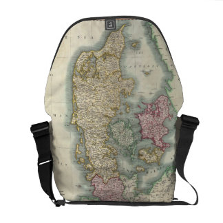 Vintage Map of Denmark (1801) Courier Bags