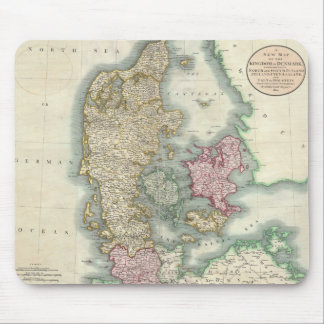 Vintage Map of Denmark 1801 Mouse Pads