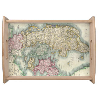 Vintage Map of Denmark 1801 Food Trays