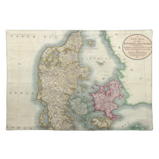 Vintage Map of Denmark (1801) Placemats